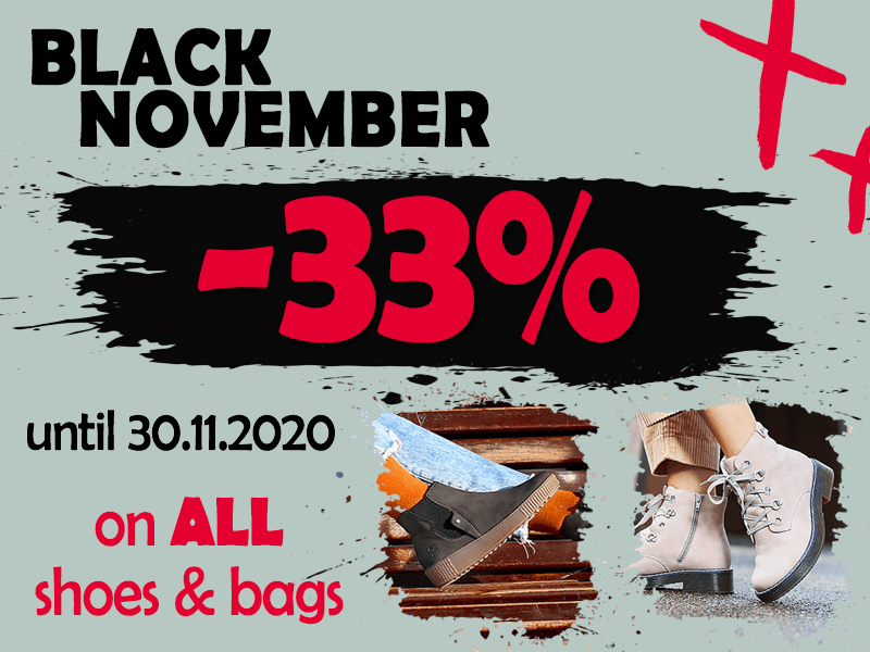 Black November 33% discount on all shoes and bags