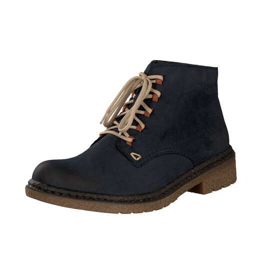 reputable site 93061 c7706 Rieker women lace-up boot blue 53244-14