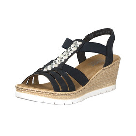 63062 14 Ladies Dark Blue Sandals