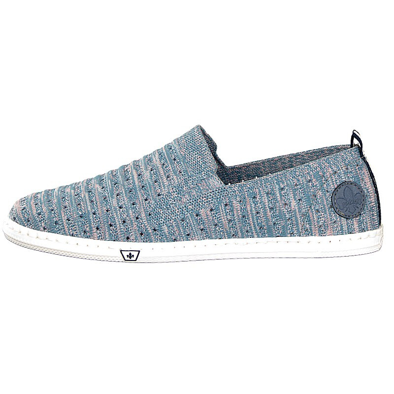 Rieker Damen Slipper blau